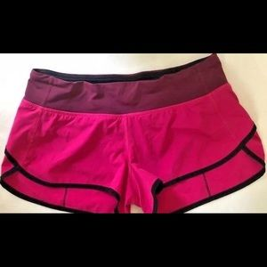 LULULEMON Run Speed lined shorts size 6